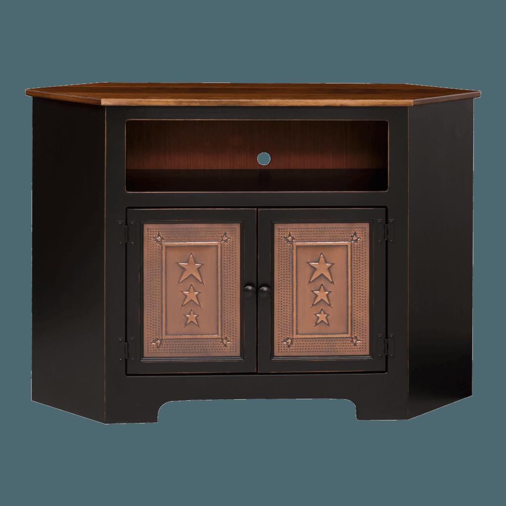2-Door Corner Plasma Cabinet w Tin