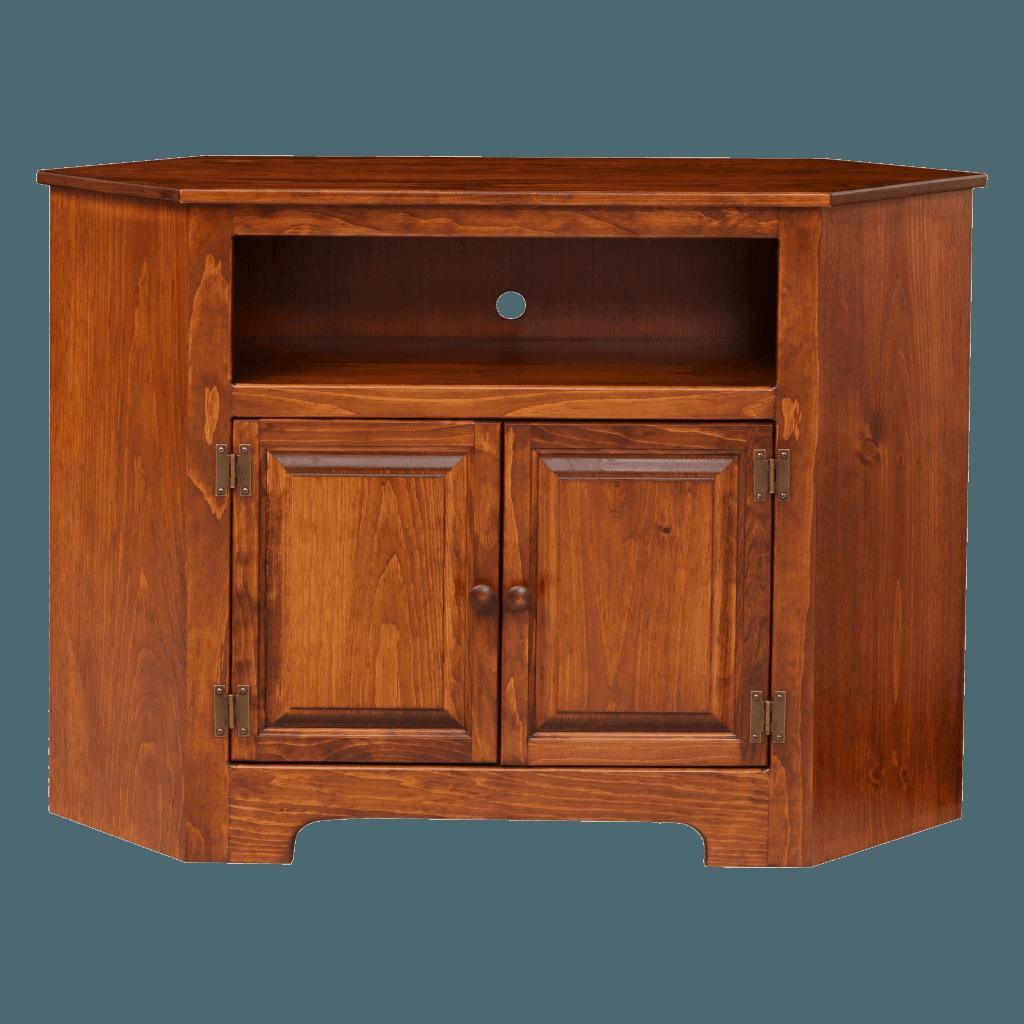 2-Door Corner Plasma Cabinet w Wood