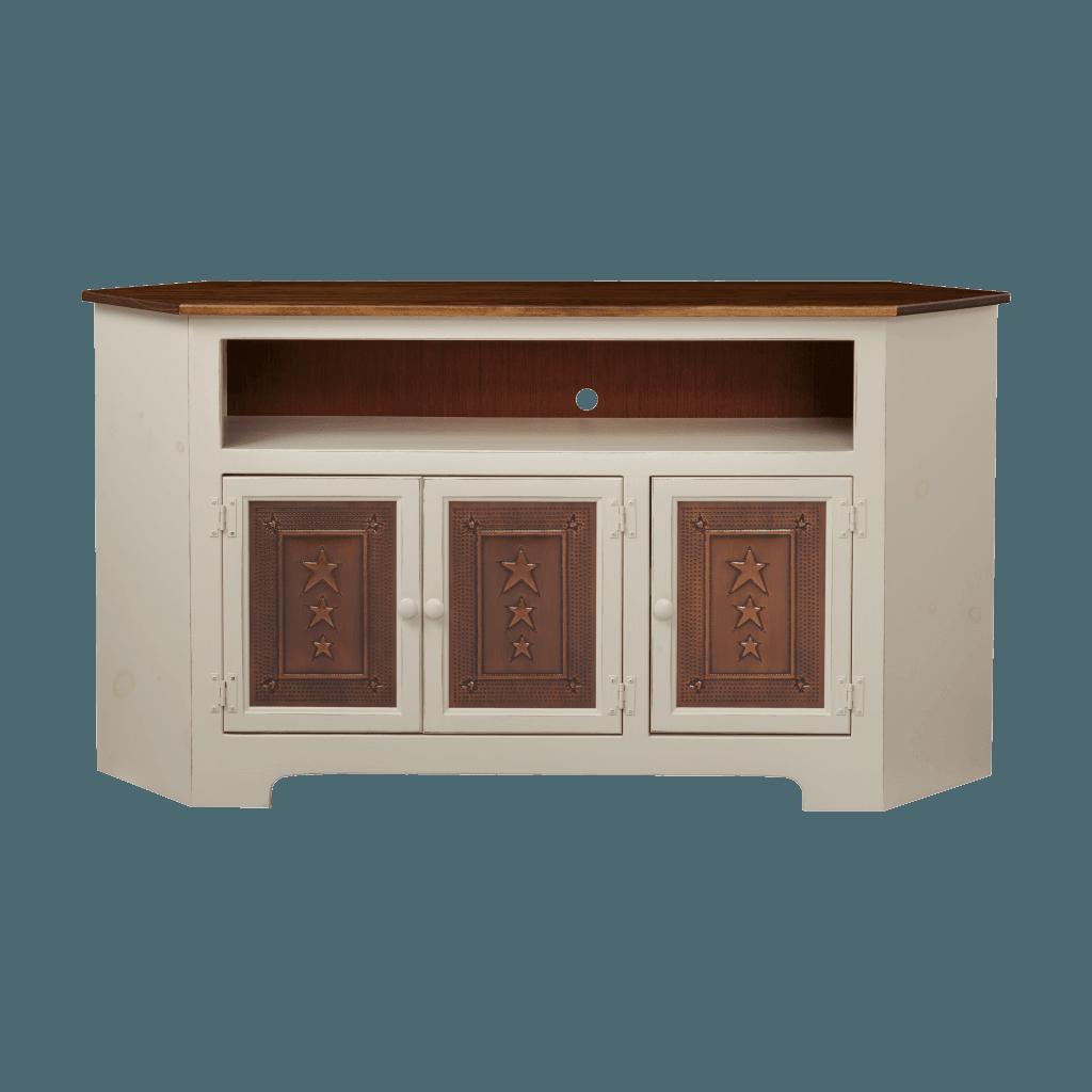 3-Door Corner Plasma Cabinet w Tin