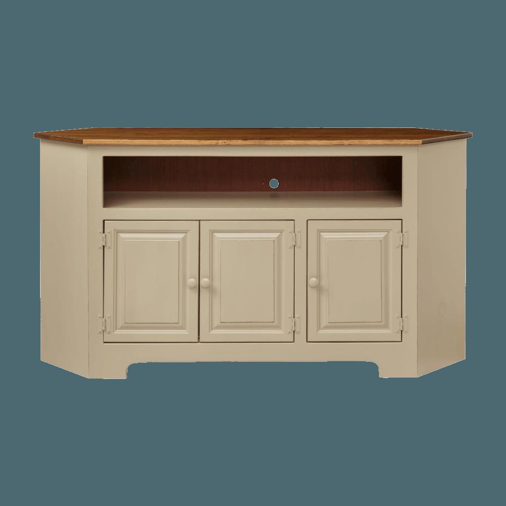 3-Door Corner Plasma Cabinet w Wood
