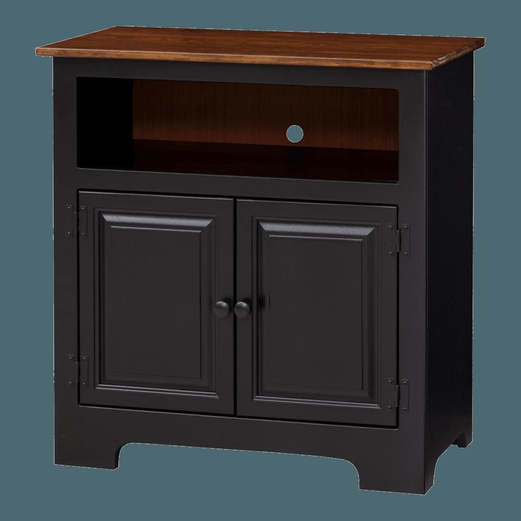 2-Door Plasma Cabinet w Wood