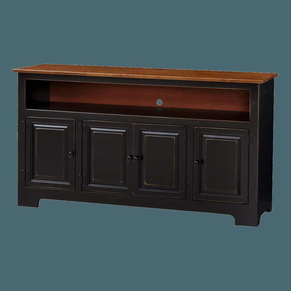 4-Door Plasma Cabinet w Wood
