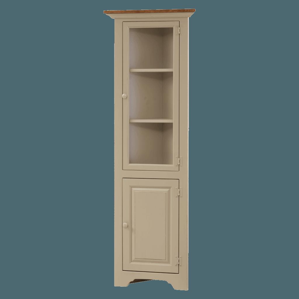 Small Corner Cabinet w Glass