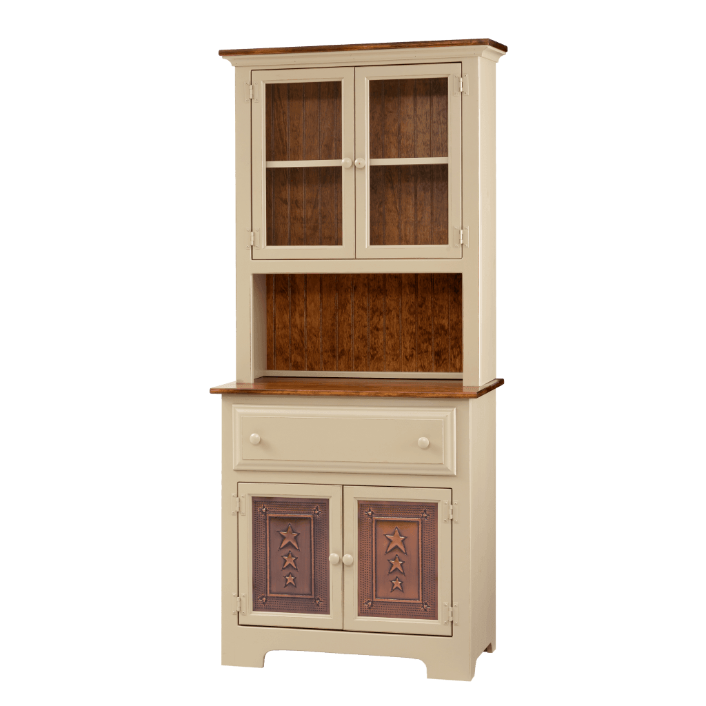 2-Door Hutch w/ Tin