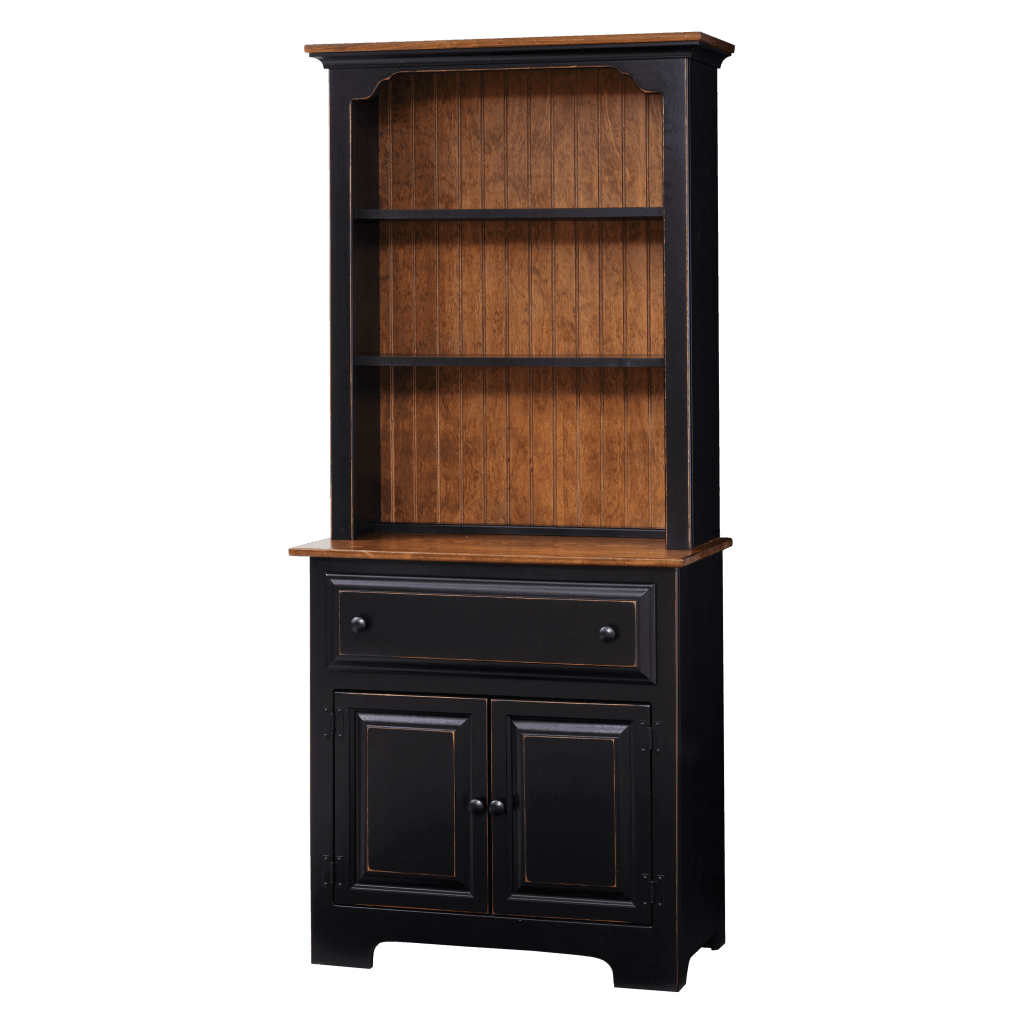 2-Door Hutch w Wood