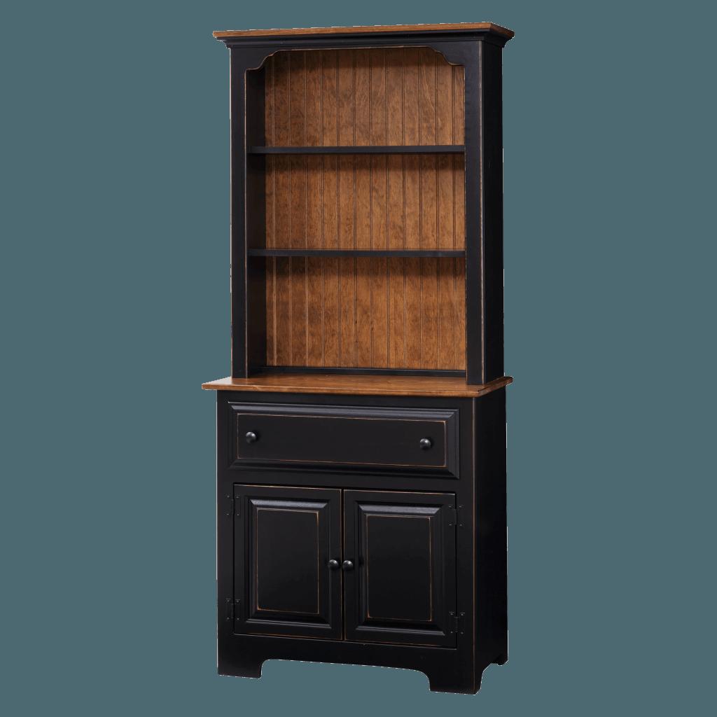 2-Door Hutch w Wood
