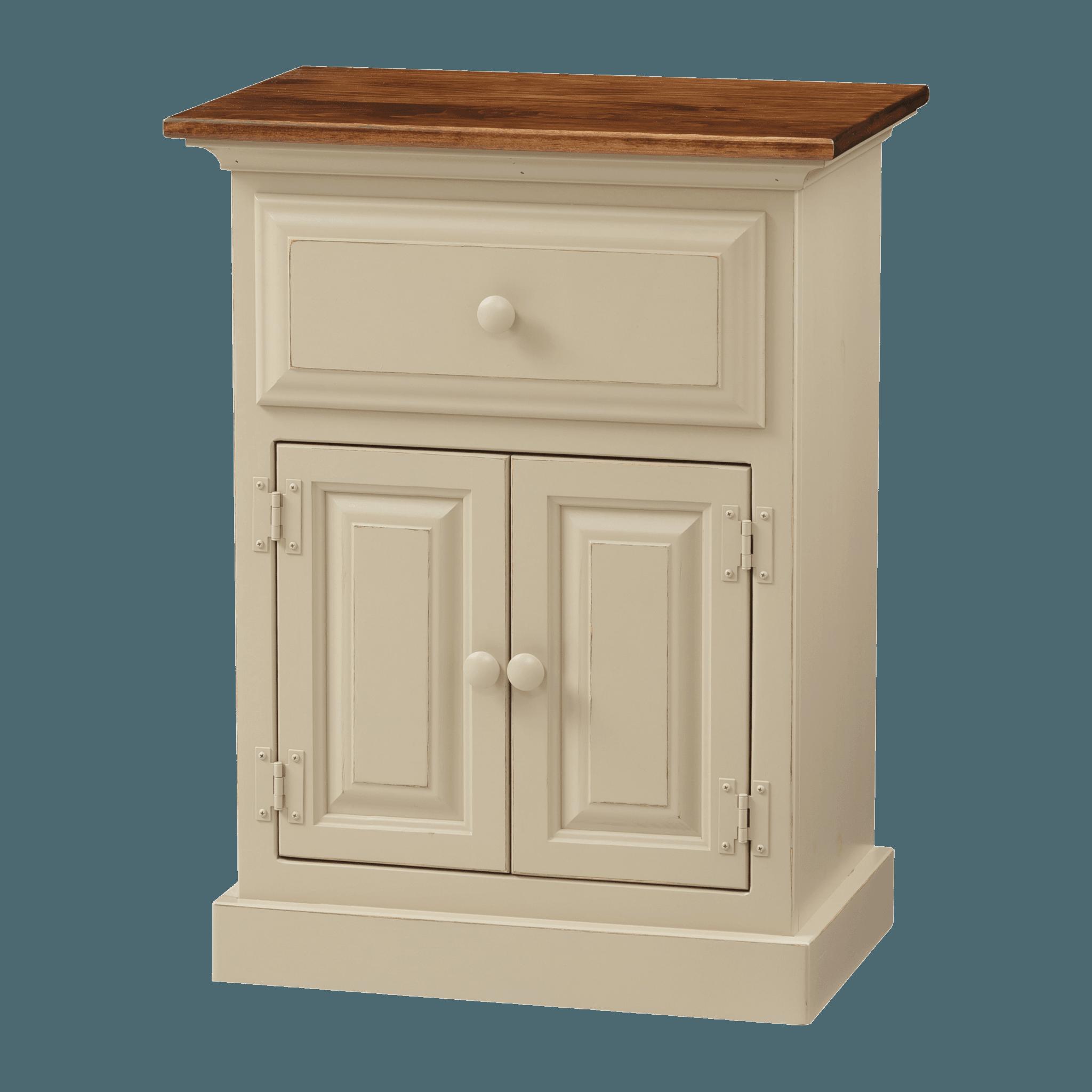 1-Drawer 2-Door Nightstand