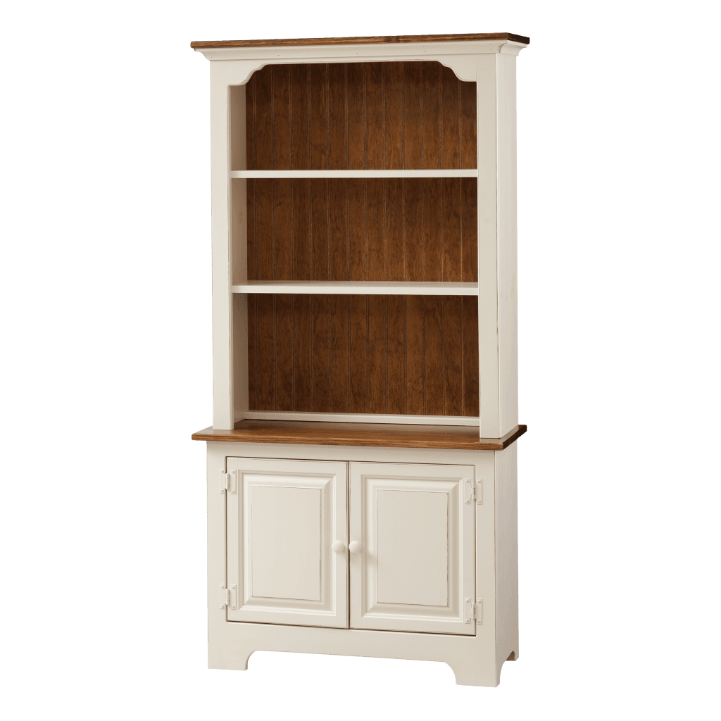 Bookcase w Base Wood Doors