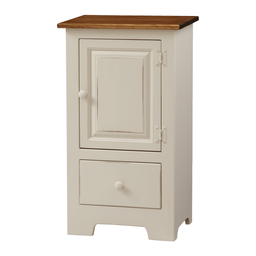 Single Hall Cabinet w Wood