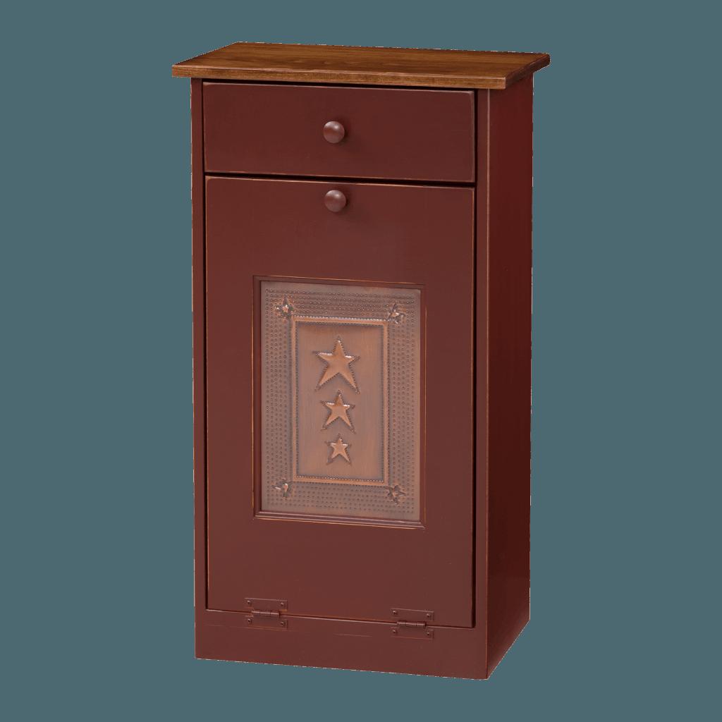 Trash Bin Cabinet w Tin