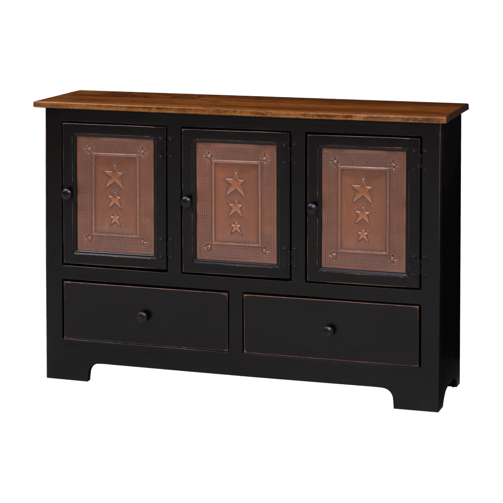 Triple Hall Cabinet w Tin