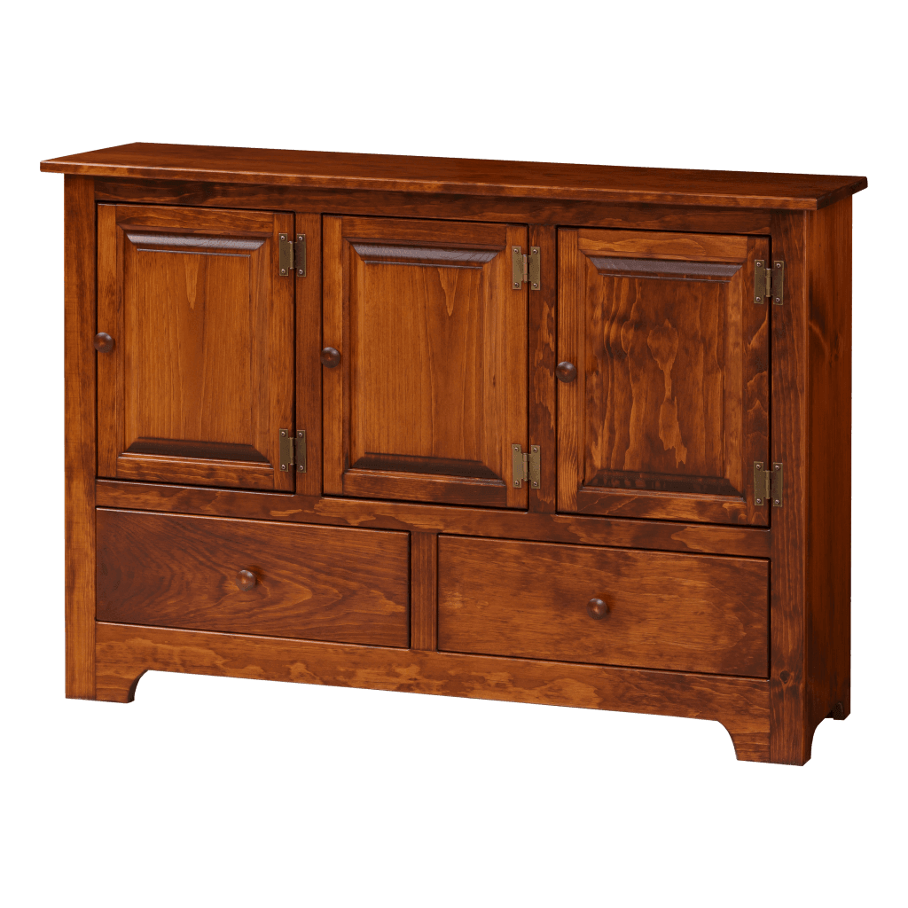 Triple Hall Cabinet w Wood