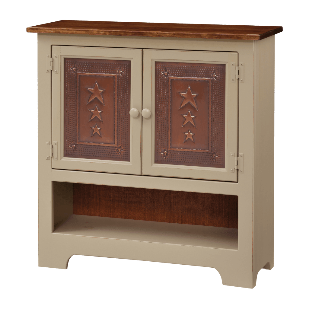 Double Hall Cabinet w Tin