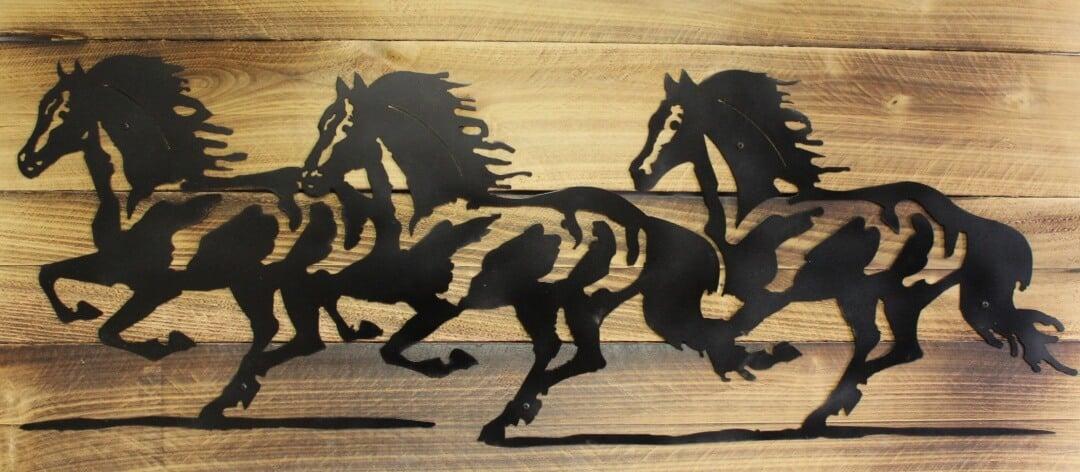custom horse metal silhouette