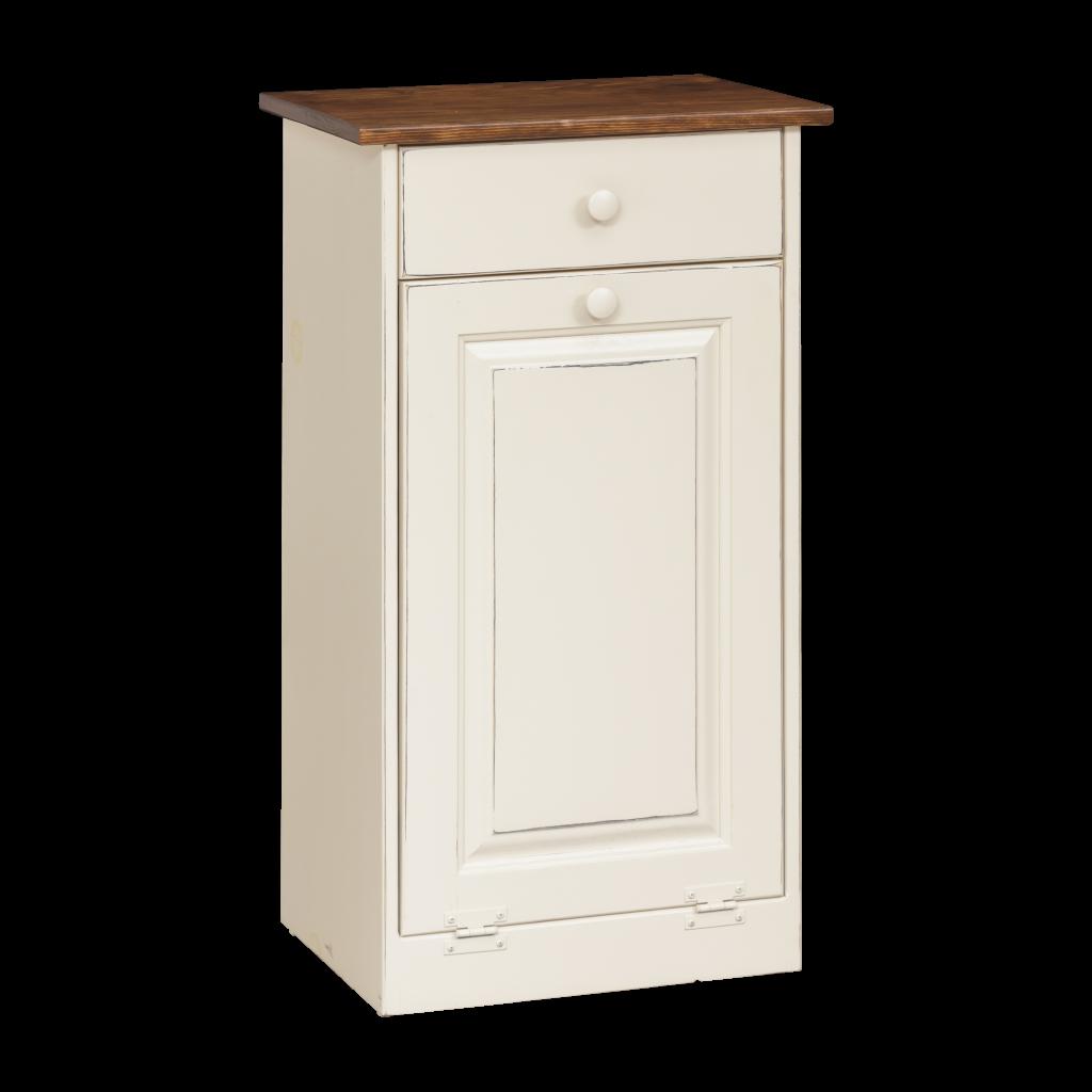 Trash Bin Cabinet w/ Wood