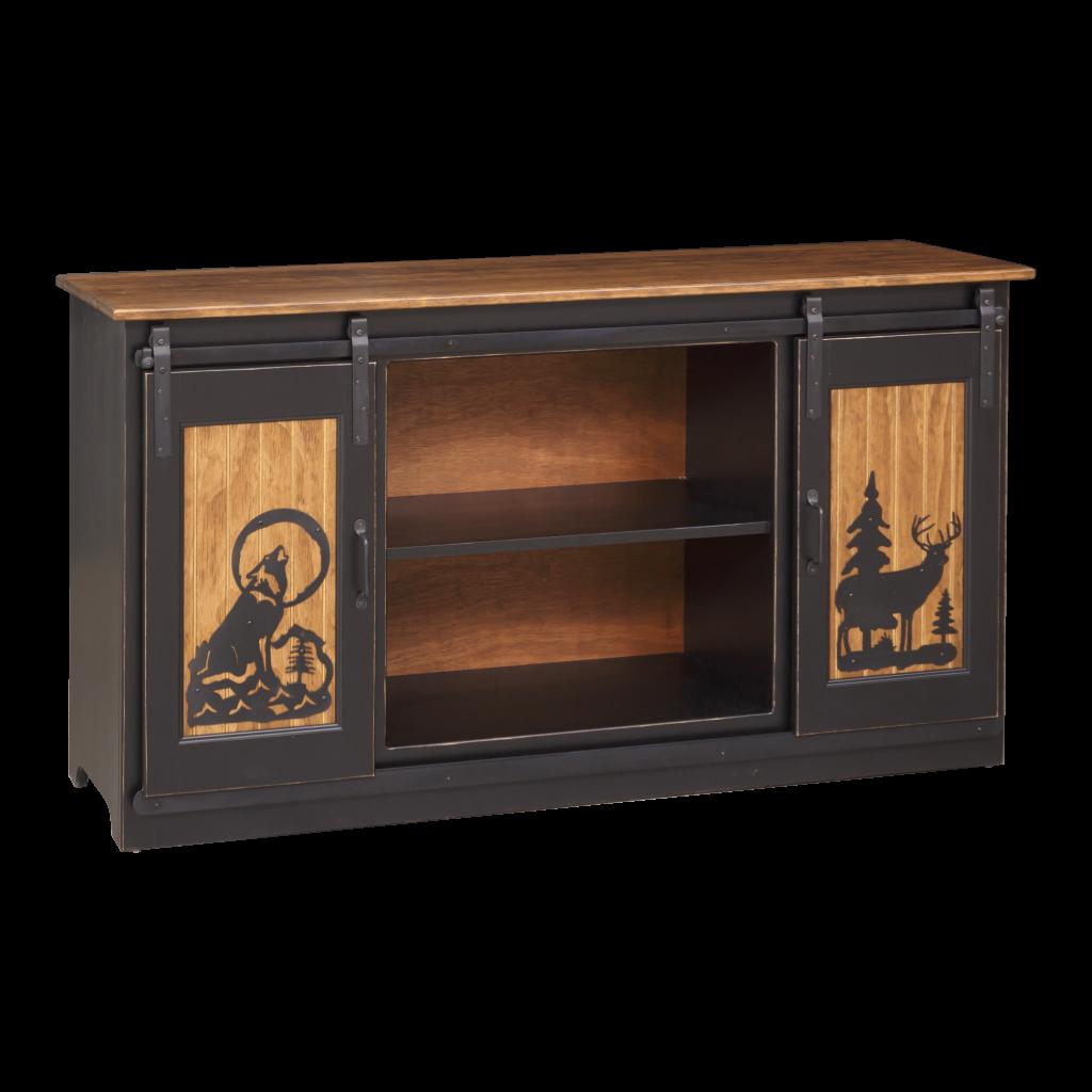 """Barn Door TV Cabinet 60"""""""